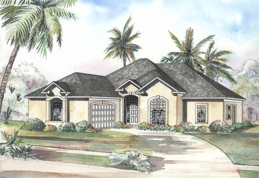 Coastal home (ThePlanCollection: Plan #153-1184)