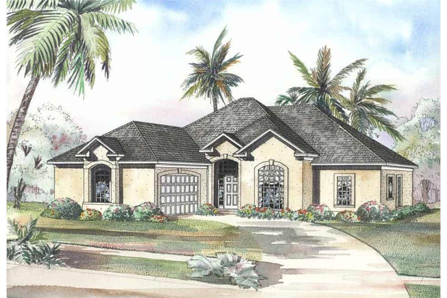 3-Bedroom, 2056 Sq Ft Coastal Home Plan - 153-1184 - Main Exterior