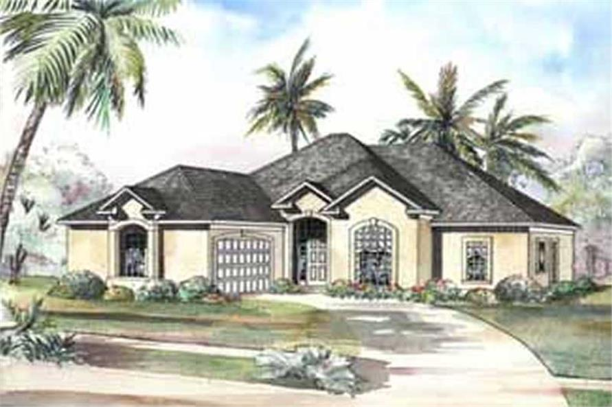 3-Bedroom, 2056 Sq Ft Coastal Home Plan - 153-1184 - Main Exterior
