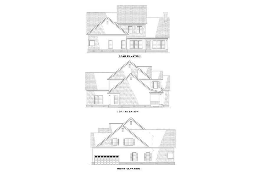 EXTERIOR ELEVATIONS of this 5-Bedroom,3248 Sq Ft Plan -3248