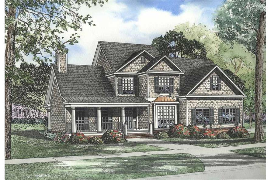 5-Bedroom, 3248 Sq Ft Southern Home Plan - 153-1185 - Main Exterior