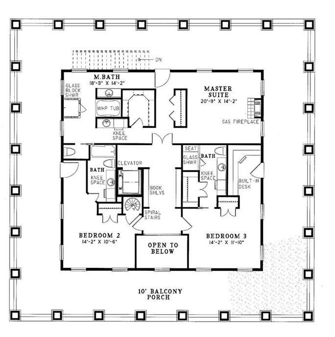5 bedrm, 4874 sq ft southern house plan #153-1187