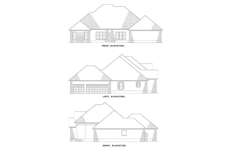 EXTERIOR ELEVATIONS of this 4-Bedroom,2556 Sq Ft Plan -2556