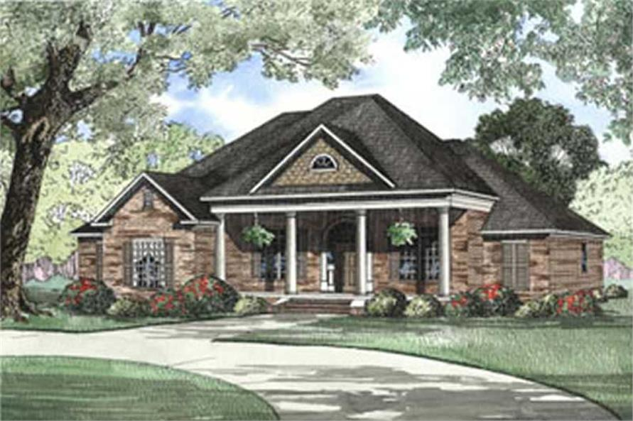 4-Bedroom, 2556 Sq Ft French Home Plan - 153-1188 - Main Exterior