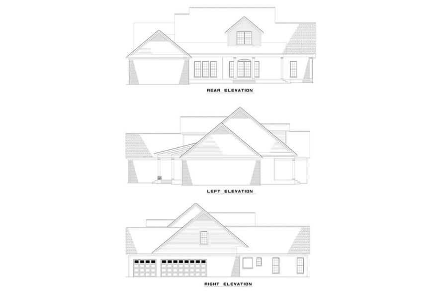 EXTERIOR ELEVATIONS of this 5-Bedroom,3419 Sq Ft Plan -3419