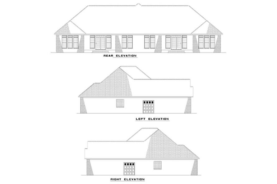 153-1192: Home Plan Exterior Elevations