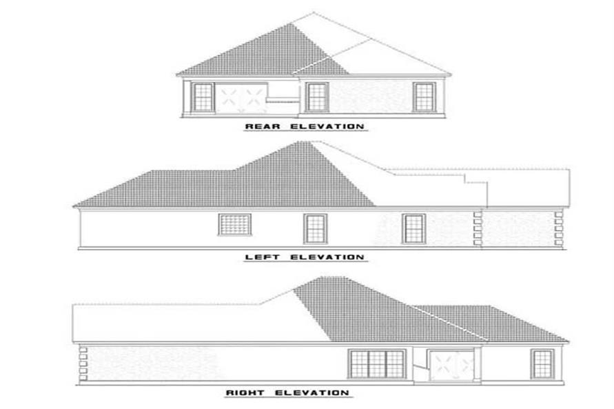 Home Plan Exterior Elevations of this 3-Bedroom,1818 Sq Ft Plan -153-1194