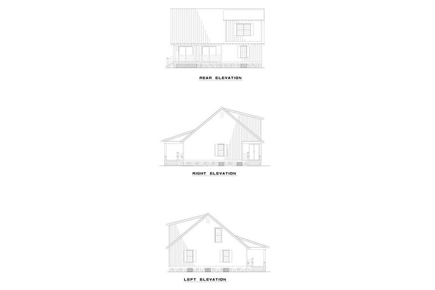 Black and White of this 4-Bedroom,1458 Sq Ft Plan -1458