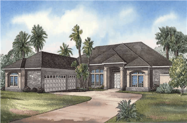 3-Bedroom, 3654 Sq Ft Luxury Home - Plan #153-1199 - Main Exterior