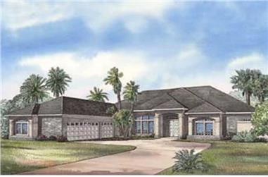 3-Bedroom, 3654 Sq Ft Coastal Home Plan - 153-1199 - Main Exterior