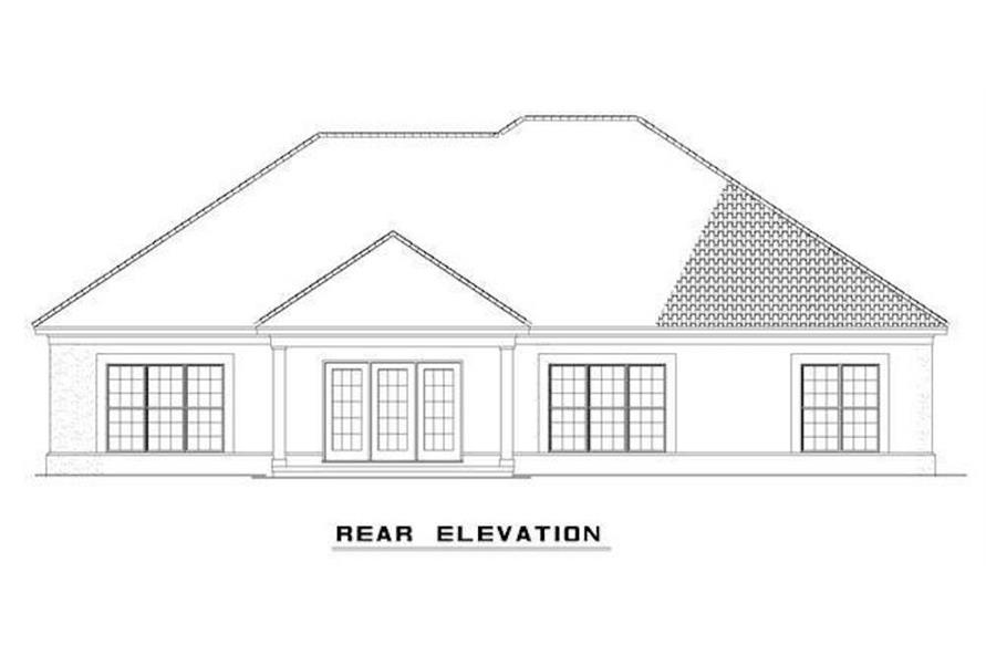 Home Plan Rear Elevation of this 3-Bedroom,2059 Sq Ft Plan -153-1200