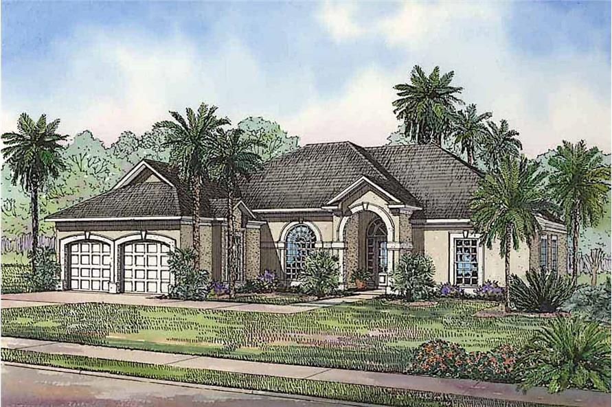 3-Bedroom, 2059 Sq Ft Ranch House - Plan #153-1200 - Front Exterior