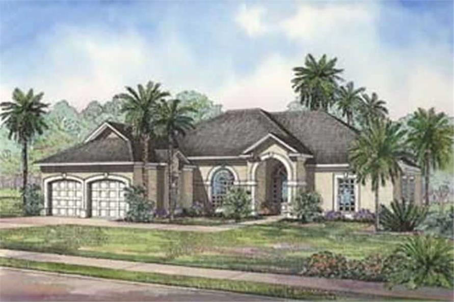 3-Bedroom, 2059 Sq Ft Coastal Home Plan - 153-1200 - Main Exterior