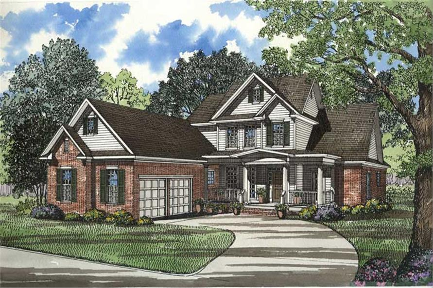 4-Bedroom, 3206 Sq Ft Country Home Plan - 153-1204 - Main Exterior