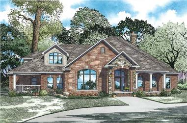 4-Bedroom, 3969 Sq Ft Country House Plan - 153-1205 - Front Exterior