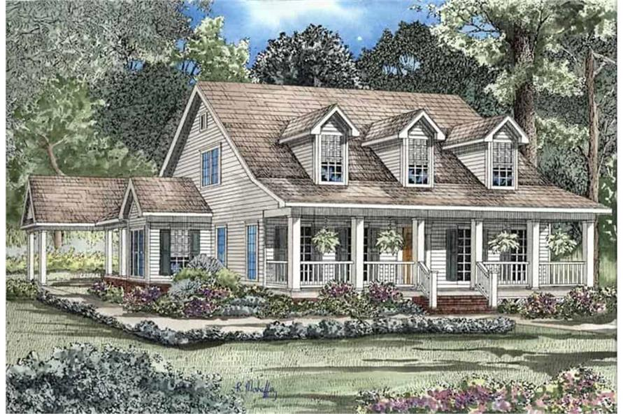 Left View of this 4-Bedroom,2186 Sq Ft Plan -153-1206