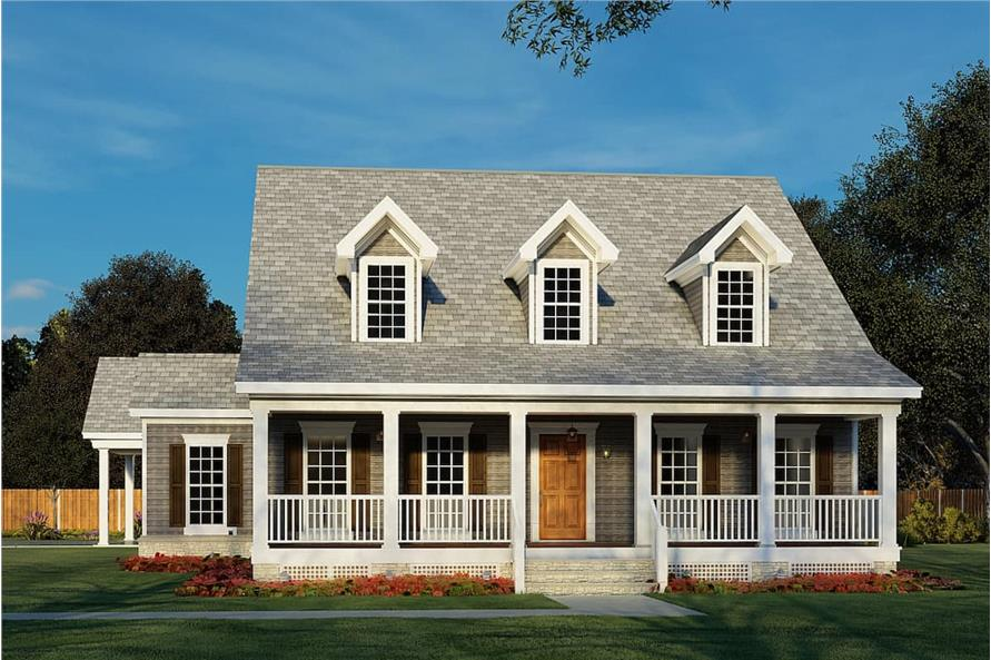Front View of this 4-Bedroom,2186 Sq Ft Plan -153-1206