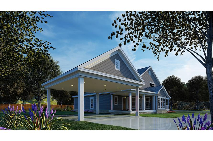 Rear View of this 4-Bedroom,2186 Sq Ft Plan -153-1206