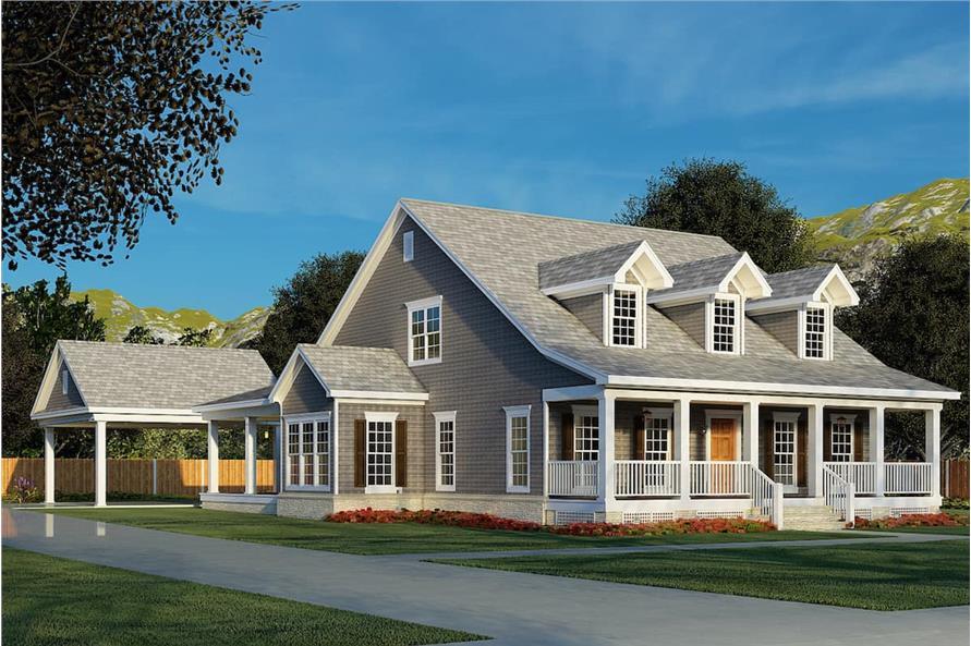 4-Bedroom, 2186 Sq Ft Cape Cod Home - Plan #153-1206 - Main Exterior