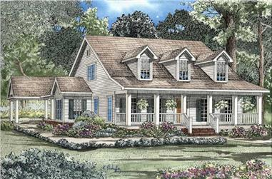 4-Bedroom, 2186 Sq Ft Country House Plan - 153-1206 - Front Exterior