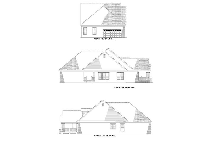 EXTERIOR ELEVATIONS of this 3-Bedroom,1966 Sq Ft Plan -1966