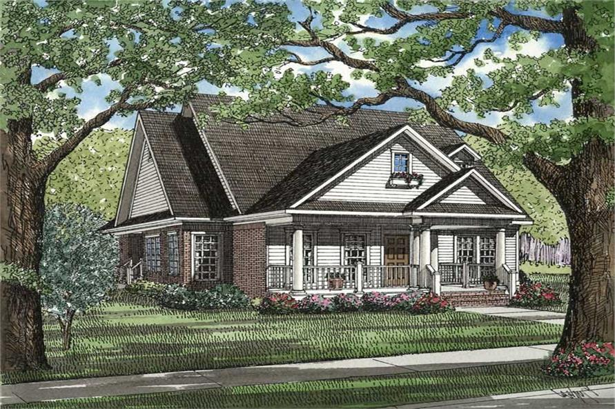3-Bedroom, 1966 Sq Ft Southern Home Plan - 153-1208 - Main Exterior