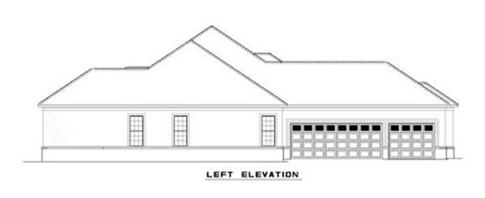 153-1209: Home Plan Left Elevation