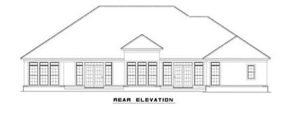 153-1209: Home Plan Rear Elevation
