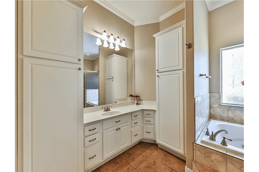 Master Bathroom: Sink/Vanity of this 4-Bedroom,3021 Sq Ft Plan -153-1209