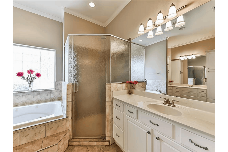 Master Bathroom: Shower of this 4-Bedroom,3021 Sq Ft Plan -153-1209