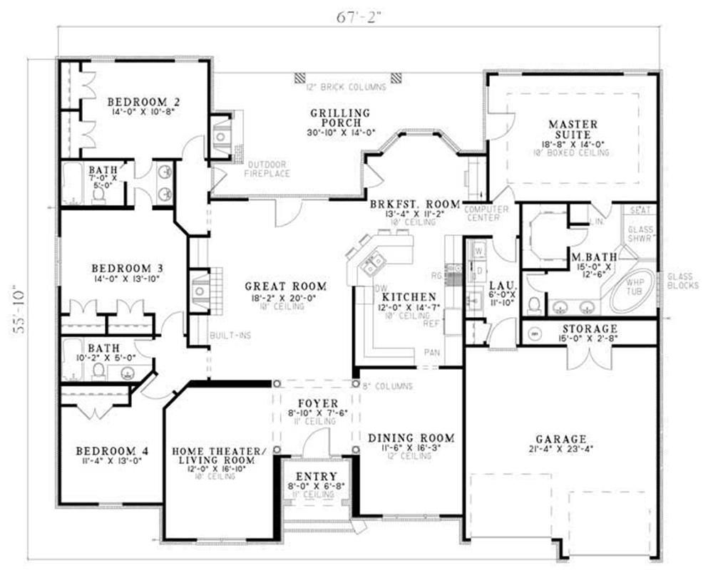 Traditional House Plans Home Design 153 1210
