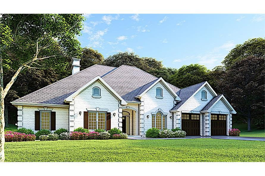 Home Plan Rendering of this 4-Bedroom,2525 Sq Ft Plan -153-1210