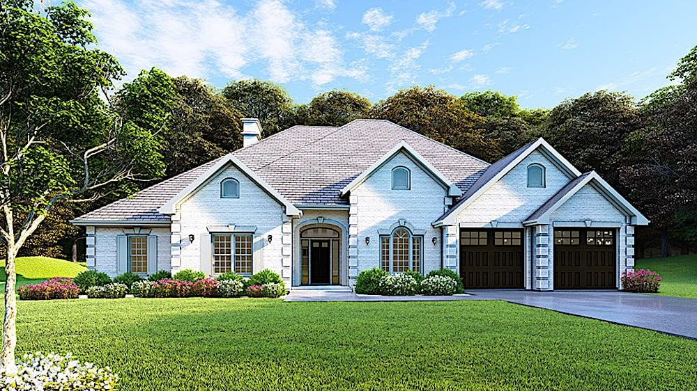 Ranch style home (ThePlanCollection: Plan #153-1210)