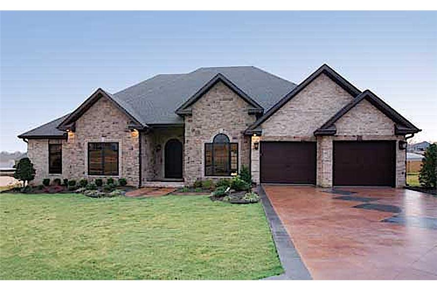 4-Bedroom, 2525 Sq Ft European-Style Ranch Plan - 153-1210 - Front Exterior