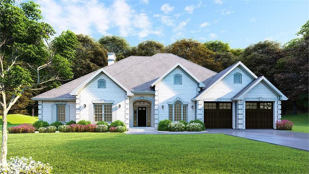 Euopean Ranch style home (ThePlanCollection: Plan #153-1210)
