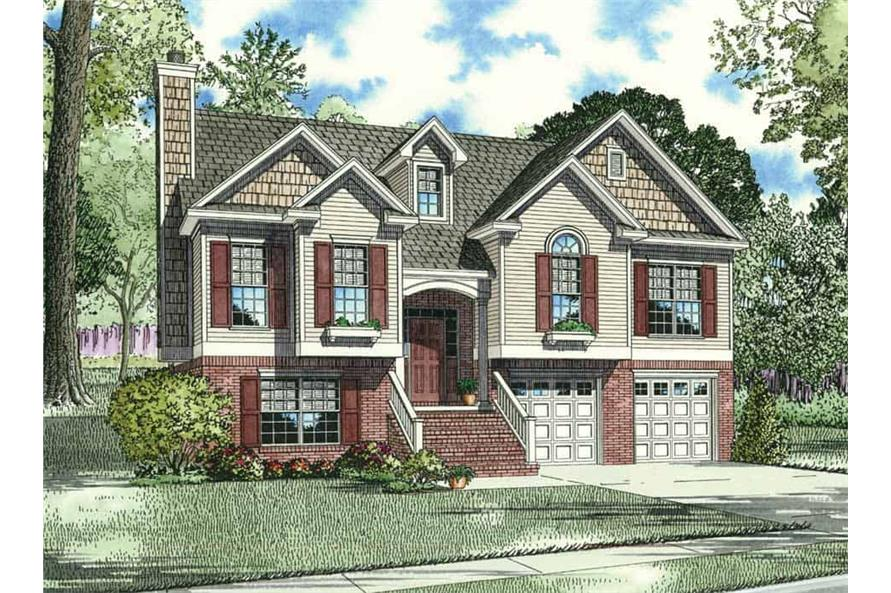 3-Bedroom, 1425 Sq Ft Contemporary Home Plan - 153-1212 - Main Exterior