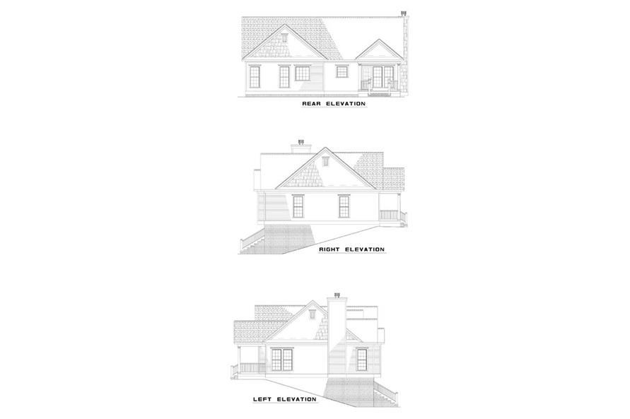 153-1212: Home Plan Exterior Elevations