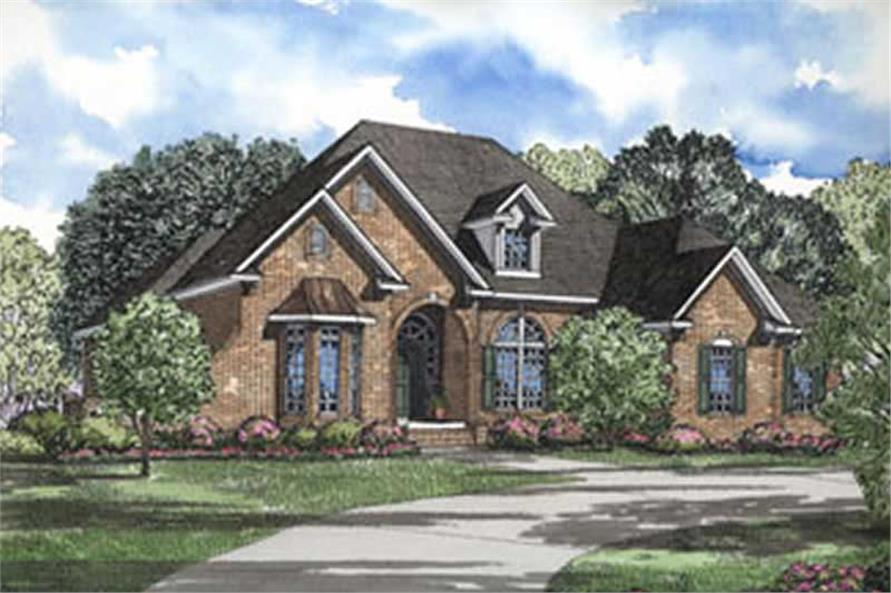 superb french european house plans #8: #153-1213 · Main image for house plan # 4011