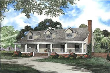 4-Bedroom, 4791 Sq Ft Country Home Plan - 153-1214 - Main Exterior