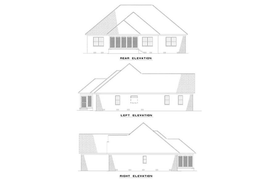 EXTERIOR ELEVATIONS of this 3-Bedroom,1909 Sq Ft Plan -1909