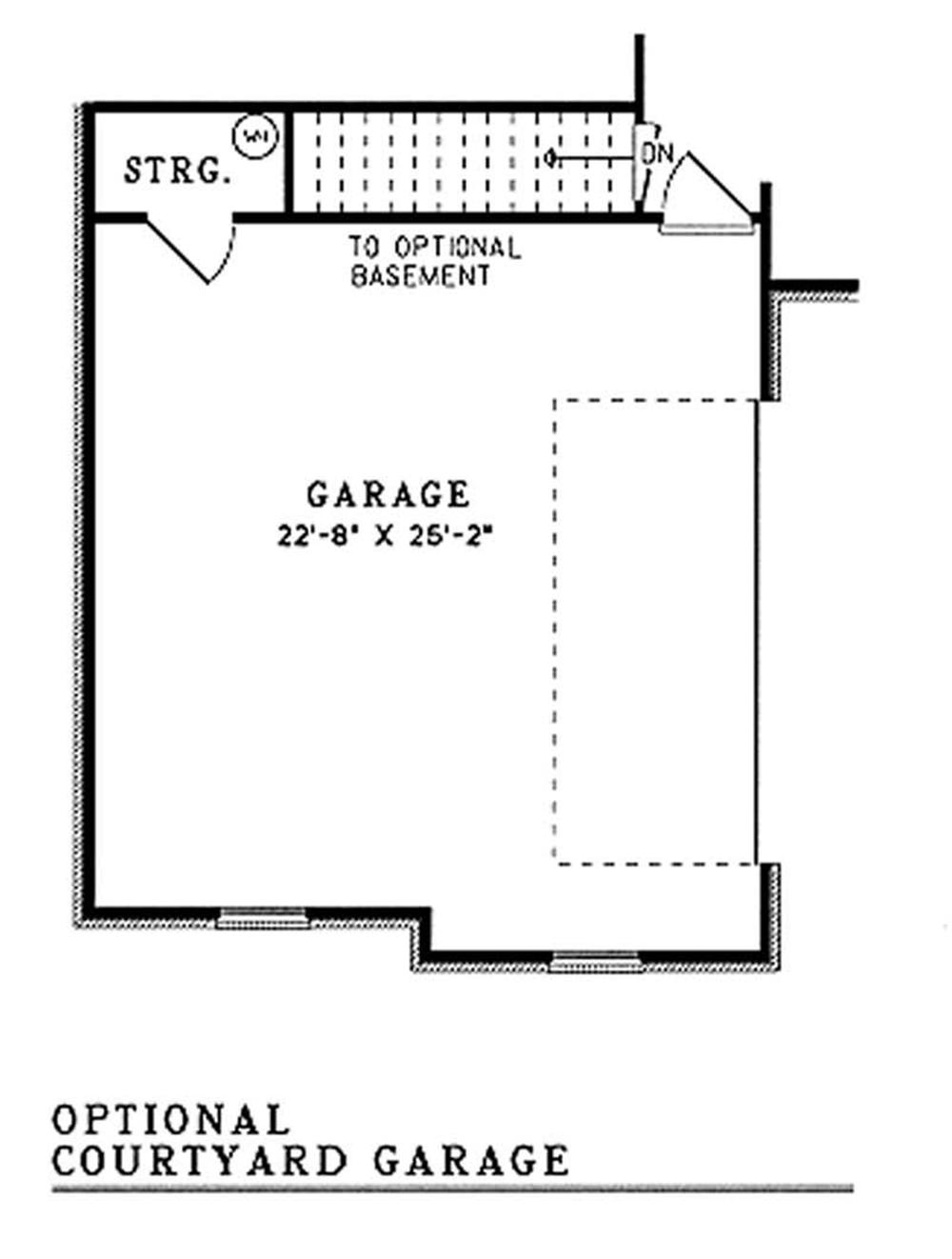 Optional Courtyard Garage