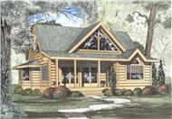 Log Cabins Front Elevation