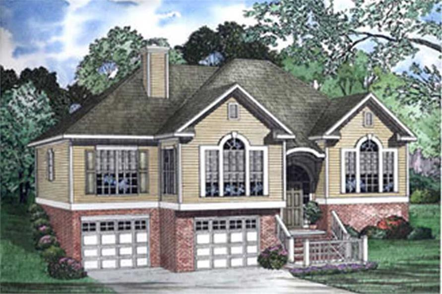 3-Bedroom, 1764 Sq Ft Small House Plans - 153-1217 - Main Exterior