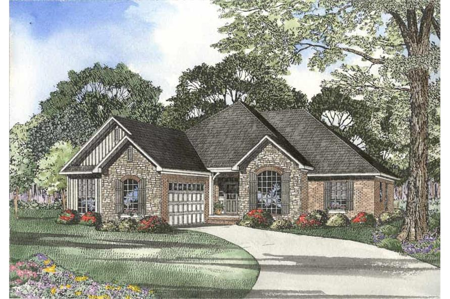3-Bedroom, 1973 Sq Ft Country House Plan - 153-1218 - Front Exterior