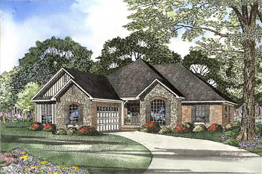 Front elevation of Country home (ThePlanCollection: House Plan #153-1218)