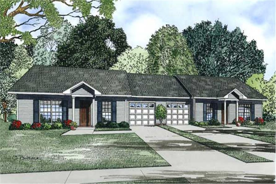 Home Plan Rendering of this 2-Bedroom,1704 Sq Ft Plan -153-1219