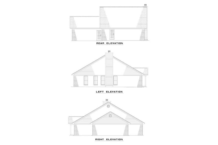 EXTERIOR ELEVATIONS of this 3-Bedroom,1324 Sq Ft Plan -1324