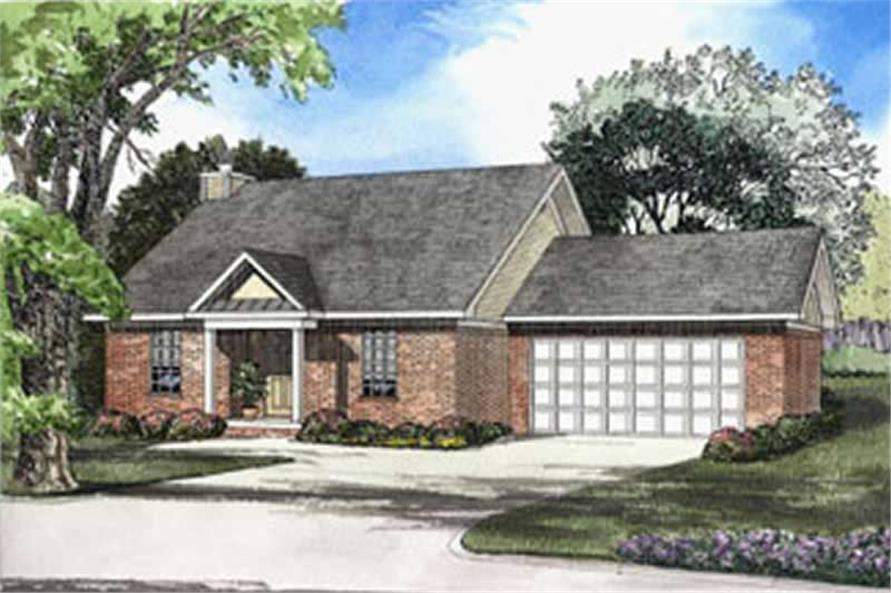 3-Bedroom, 1324 Sq Ft Small House Plans - 153-1220 - Main Exterior