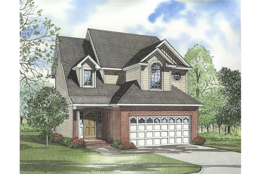 3-Bedroom, 1841 Sq Ft Country House Plan - 153-1222 - Front Exterior