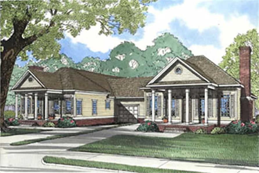6-Bedroom, 1404 Sq Ft Multi-Unit Home Plan - 153-1223 - Main Exterior